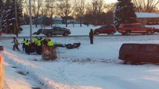 Car Crash on 4 Mile and Nicholson Road