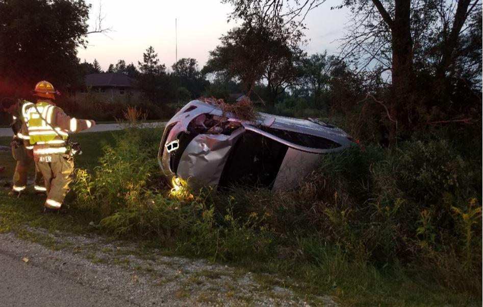 one-car crash