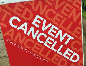 canceled events and closures list, Racine County, Racine, Wisconsin