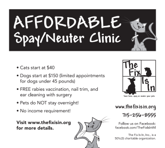 the fix is in spay neuter clinic racine