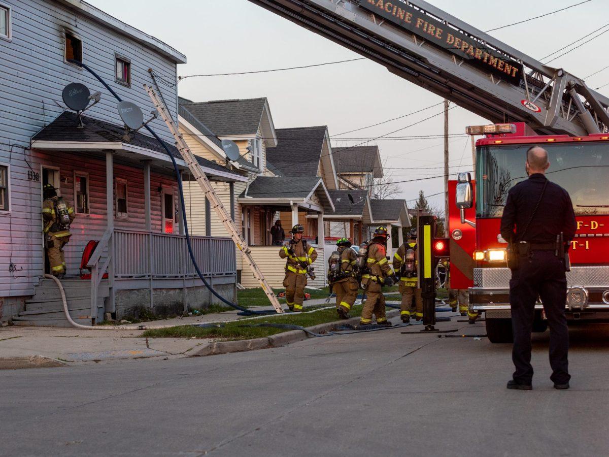 St. Patrick Street Fire, Racine, Wisconsin, Racine fire department