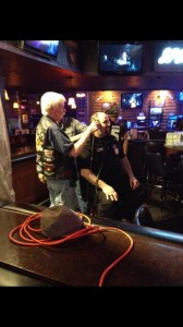 Racine Raiders broadcaster Don Wadewitz raised over $100 for agreeing to have his head shaved.