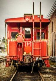 vintage red caboose