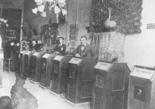 San Francisco Kinetoscope Parlor, 1894-5.