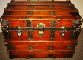 Bisland's steamer trunk, 1890.