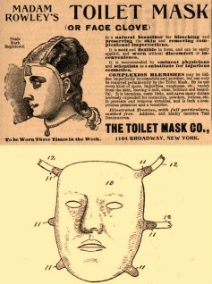Facial mask, late 1800's.