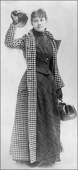 Nellie Bly's famous travel outfit.
