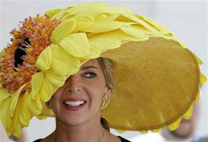 Yellow Flower Easter Bonnet.