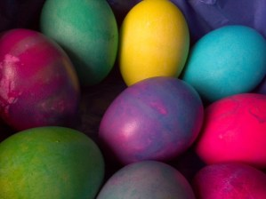Colored Easter Eggs.