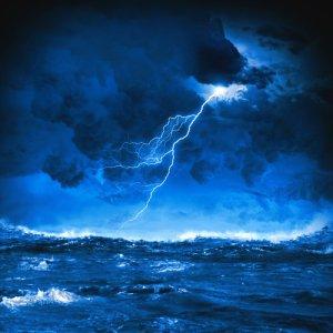 Lightning at Sea.