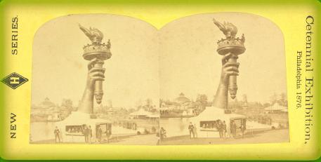 Ticket to Centennial Exhibition, Philadelphia 1876.