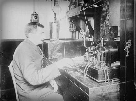 Wireless Telegraphy Operator. Library of Congress.