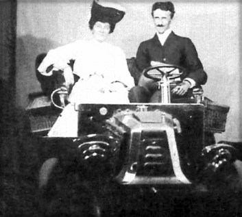 Tesla With Unknown Woman.