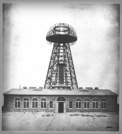 Tesla's Broadcast Tower. Wardenclyffe, Long Island, 1904.