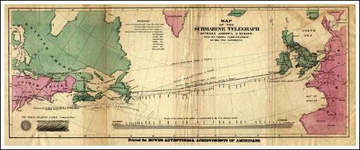 Trans-Atlantic Cable Map.