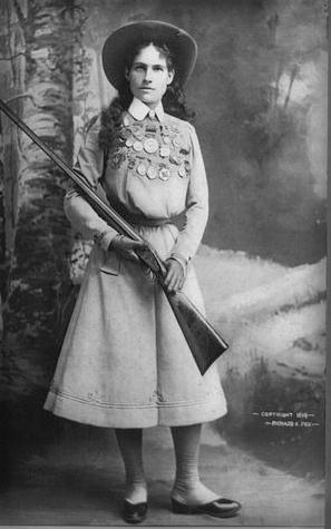 Annie Oakley, 1899.