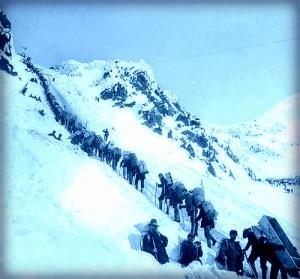 Chilkoot Pass, Golden Steps, 1898.