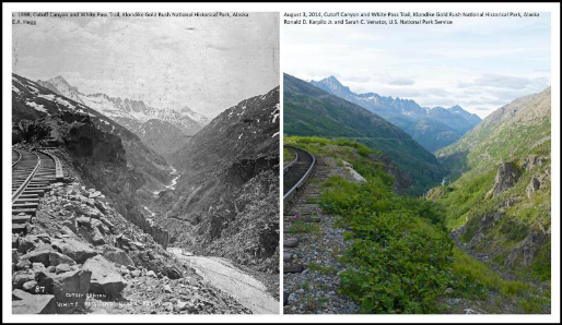Yukon, Then And Now. Photo: National Park Service.