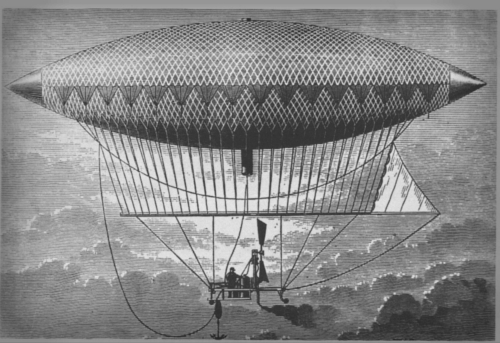 Henri Giffard Dirigible-Airship, 1852.