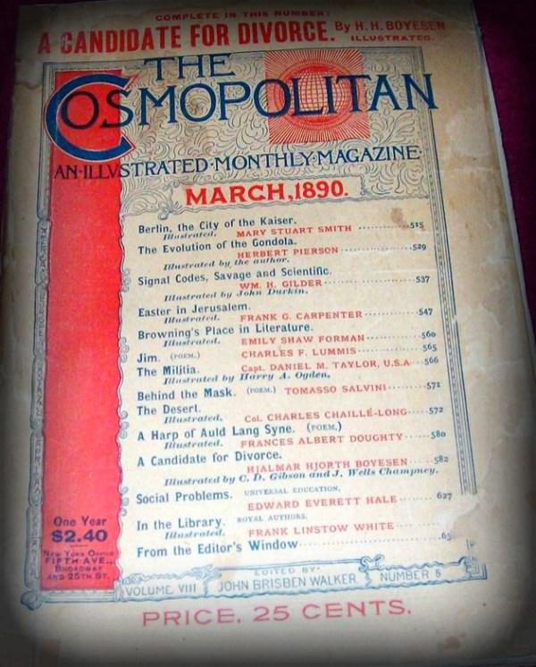 The Cosmopolitan Magazine, 1890.