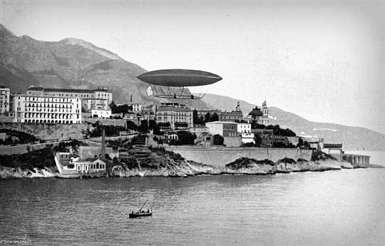Monaco, 1902. Photo: My Airships by Alberto Santos-Dumont.