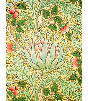 William Morris Artichoke Wallpaper, 1897.