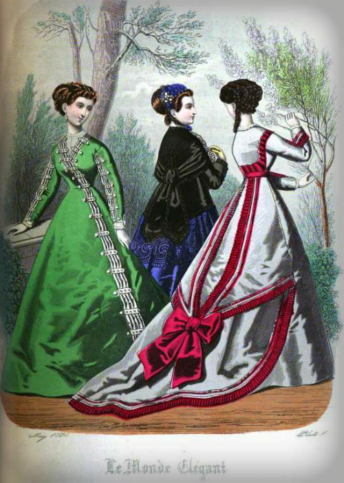 The Ladies' Monthly Magazine May 1868. Image: Wikipedia.