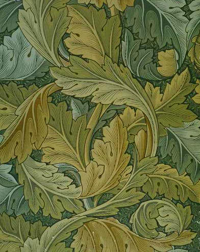 William Morris, Acanthus Wallpaper, 1875.