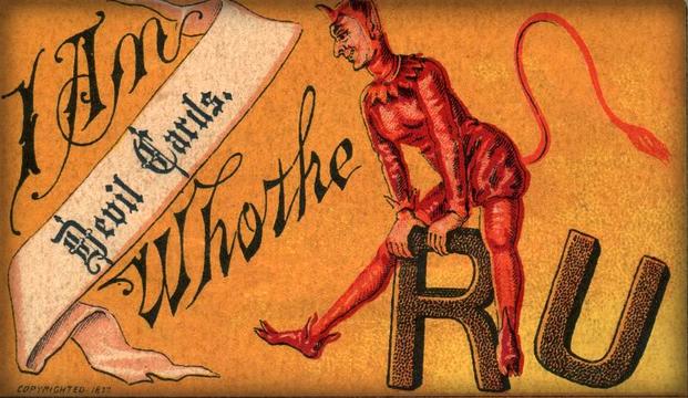 Victorian Era Flirtation Card. Image: Alan Mays, flickr.