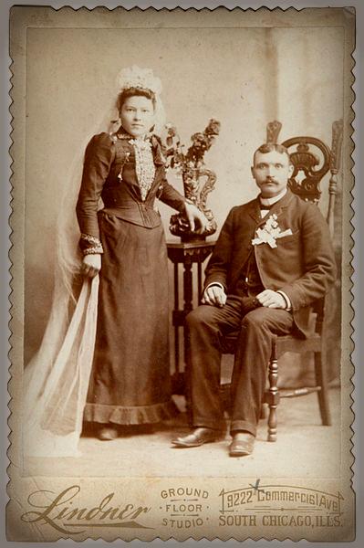 Typical Victorian Era Wedding Dress.