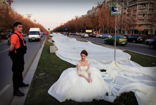 World's Longest Wedding Dress: 2,750 Meters.