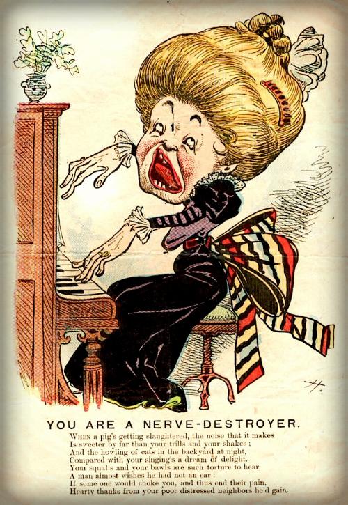 Victorian Era Vinegar Valentine. The Nerve Destroyer.