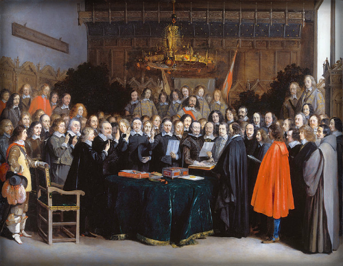 The Ratification of the Treaty of Münster, 15 May 1648. Image:Wikipedia.