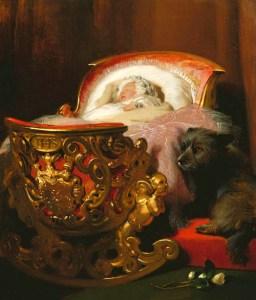 Princess Alice by Edwin Landseer. 1843. WikiMedia Commons.