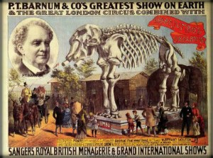 P.T. Barnum's Greatest Show On Earth Poster.
