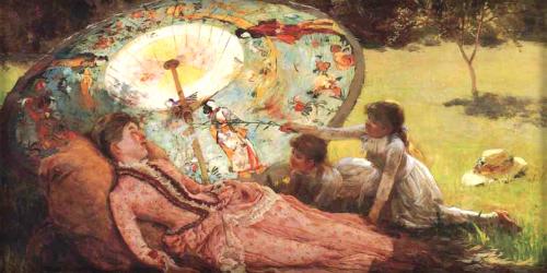 Hamilton Hamilton: Lady With A Parasol. Image: Wiki Media Commons.