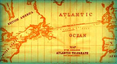 First Transatlantic Cable, 1856.