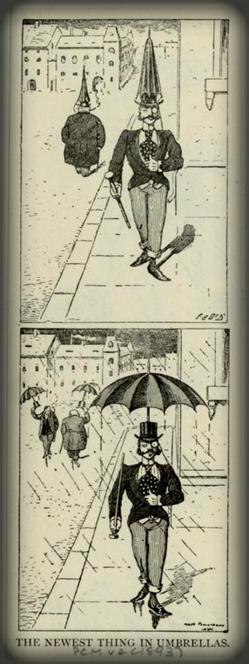 The Latest Thing In Umbrellas, 1893. NY Public Library Digital Editions.