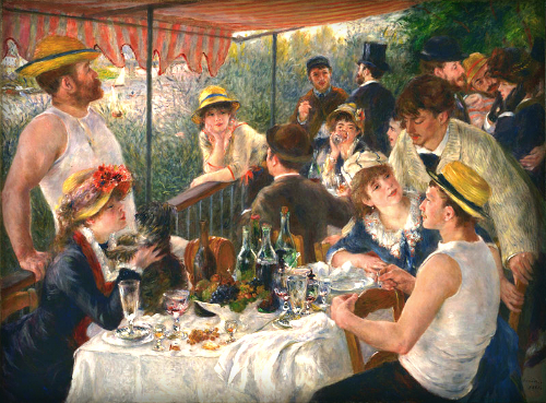 Pierre Auguste Renoir: Luncheon Of The Boating Party, 1881. Image: Wikipedia.