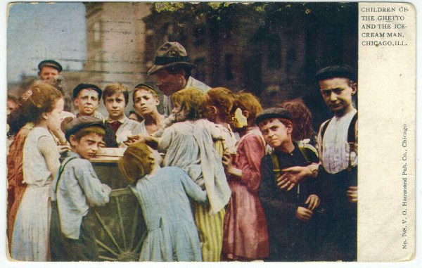 Ice Cream Man and Children Post Card. Image: Wikimedia.