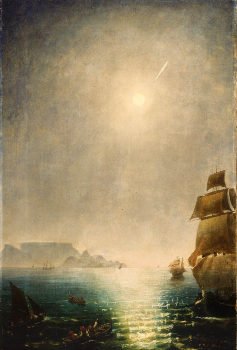 Great Comet 1843: Smyth, Daylight View Over Table Bay.