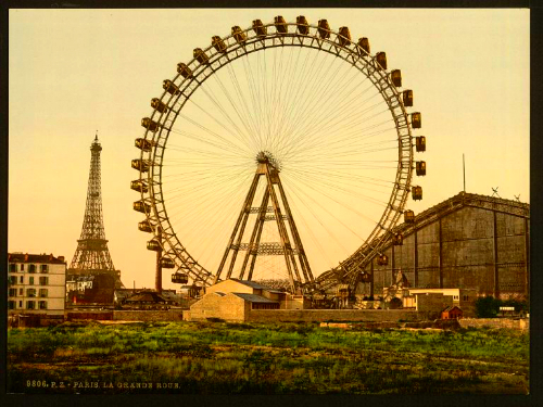 La Grande Roue. Paris, France. Photochrom by Detroit Publishing Company, circa 1900. Image: Library of Congress.