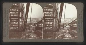 Looking Through Ferris Wheel, World's Fair, 1904. Image: hdl.loc.gov/loc.pnp/stereo.1s03203.