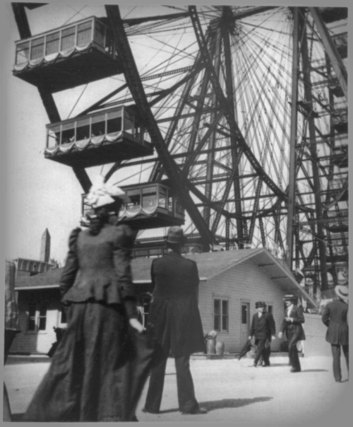 Ferris Wheel, World's Fair Chicago, 1893. Image: Library of Congress.