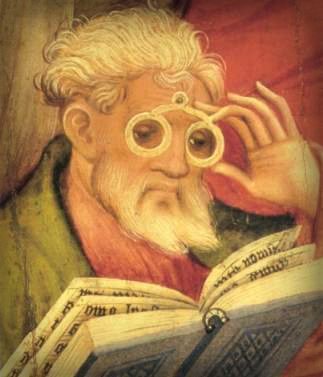 Conrad von Soest Brillenapostel, 1403. Image: Wikipedia.