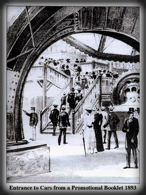 Ferris Wheel Entrance From Brochure, 1893.