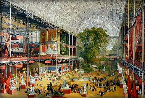 Crystal Palace Interior, Great Exhibit 1851. Image: vam.ac.uk.