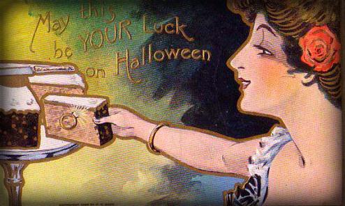 Victorian Era Halloween Card.