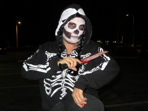 Guising On Halloween, Malibu, California. Image: B. Rose.