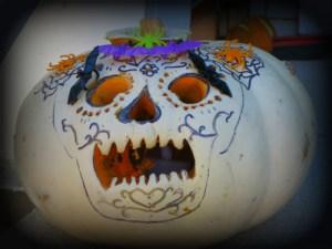Dia De Muertos Pumpkin. Image: B. Rose.
